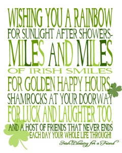 st pattys Irish Blessing for Friend